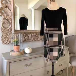 Gilli Dress 3/4 Sleeve Plaid Dress